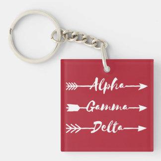 Llavero Flecha gamma alfa del delta