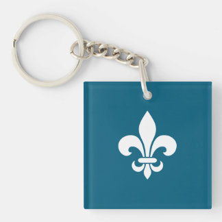 Llavero Flor de lis de Peuple Québec de la citación de