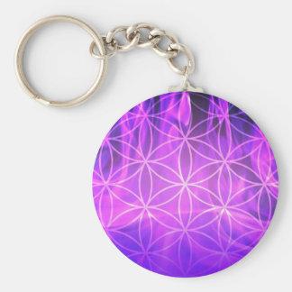 Llavero Flor de llama violeta de la vida
