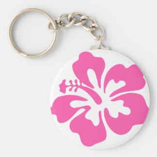 Llavero Flor rosada del hibisco