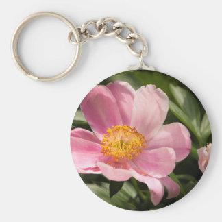 Llavero Flor rosada del Peony completamente abierta