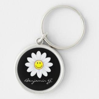 Llavero Flor sonriente de la margarita