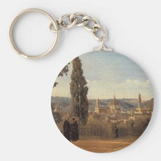 Llavero Florencia, los jardines de Boboli de Camilo Corot