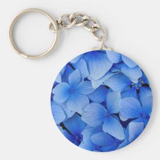 Llavero Flores azules del Hydrangea