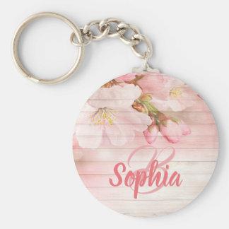 Llavero Flores de cerezo en colores pastel rosadas con el