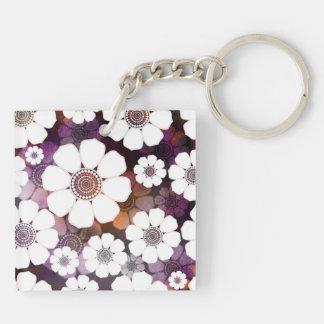 Llavero Flower power púrpura enrrollado