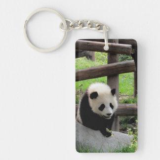 Llavero Fotografía de la panda - Personalizable