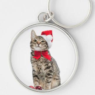 Llavero Gato del navidad - gato de Papá Noel - gatito
