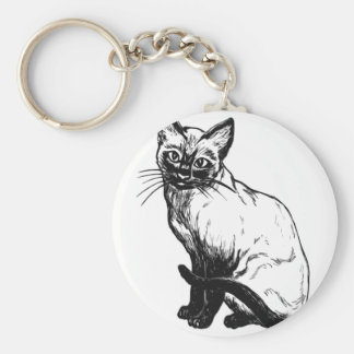 Llavero Gato siamés
