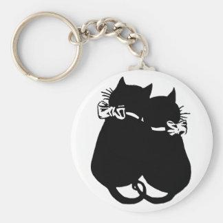 Llavero Gatos cariñosos