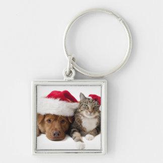 Llavero Gatos y perros - gato del navidad - perro del