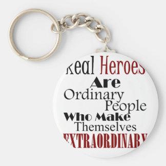 Llavero Gente extraordinaria de los héroes reales