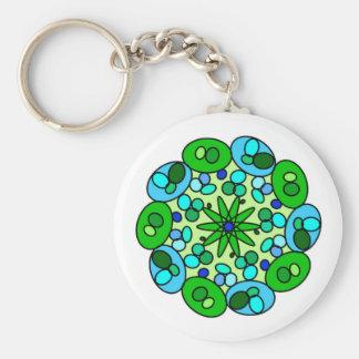 Llavero geométrico azulverde blanco de la estrella