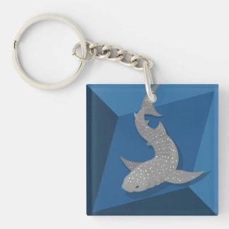 Llavero geométrico del arte del vector del tiburón