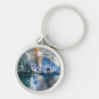 Llavero Góndola en el Gran Canal de Venecia Italia