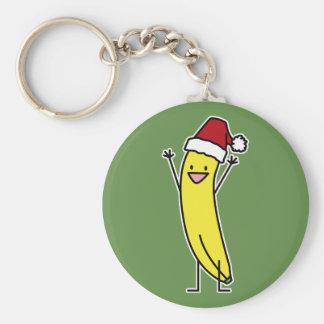 Llavero Gorra de Santa del plátano que celebra y que anima
