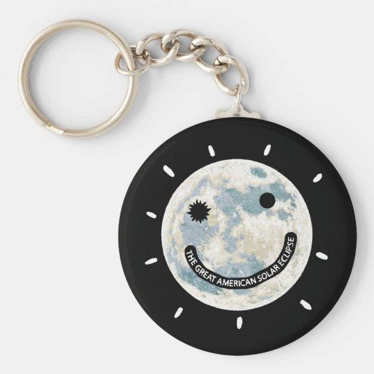 Llavero Gran luna americana Emoji del eclipse solar