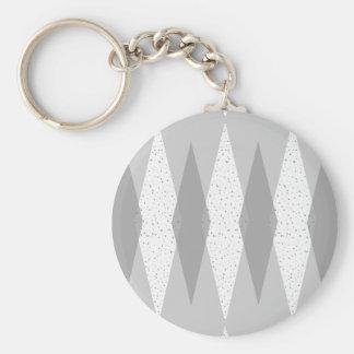 Llavero gris moderno del botón de Argyle de los
