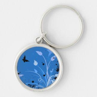 Llavero Grunge azul de la mariposa