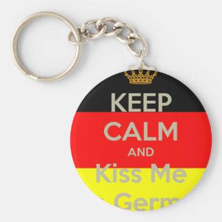 Llavero guardar-tranquilo-y-beso-mí-yo-m-alemán