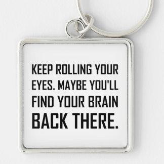 Llavero Guarde el rodar del cerebro del hallazgo de los