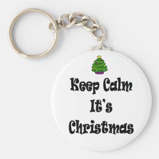 Llavero Guarde la calma su navidad y árbol