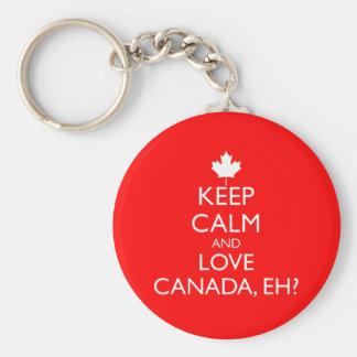 LLAVERO ¿GUARDE LA CALMA Y AME CANADÁ, EH?