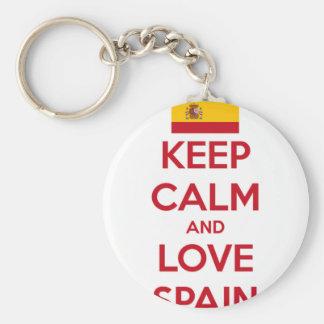Llavero Guarde la calma y ame España