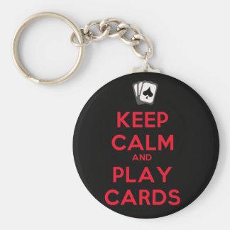 Llavero Guarde las tarjetas de la calma y del juego