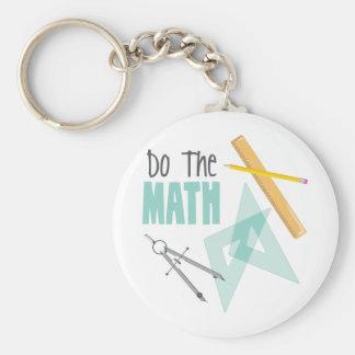 Llavero Haga la matemáticas