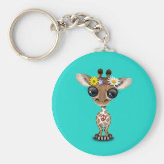 Llavero Hippie lindo de la jirafa del bebé