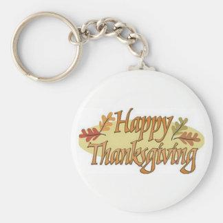 Llavero Hojas felices de la caída de la acción de gracias