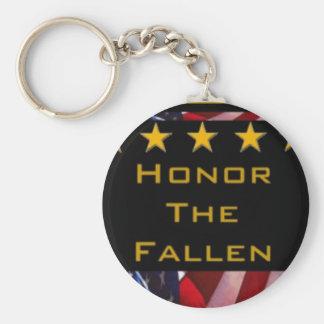 Llavero Honre el tributo militar caido