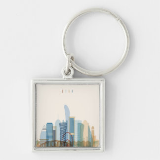 Llavero Horizonte de la ciudad de Doha, Qatar el  