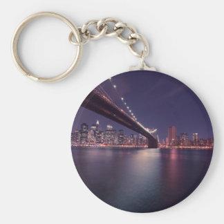 Llavero Horizonte de la noche del puente de New York City
