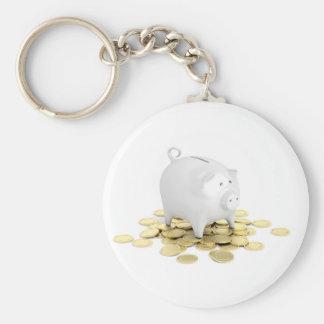 Llavero Hucha y monedas