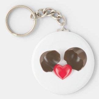 Llavero Huevo y corazón de chocolate