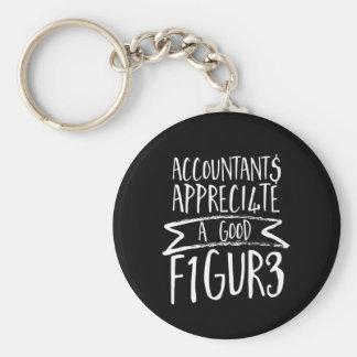 Llavero Humor divertido de la oficina del contable de las