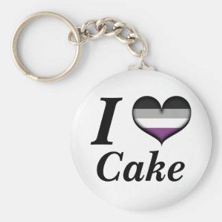 Llavero I torta asexual del corazón