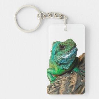 Llavero Iguana verde