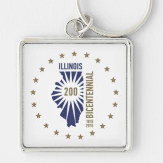 Llavero Illinois 1818-2018 bicentenario