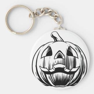 Llavero Ilustracion de la calabaza de Halloween