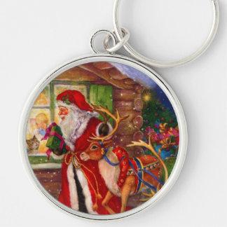 Llavero Ilustracion de Papá Noel - ilustraciones del