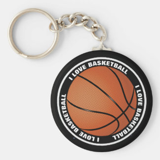 Llavero impermeable del baloncesto del amor del