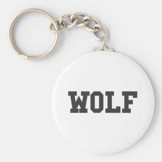 Llavero Impresión agradable del lobo