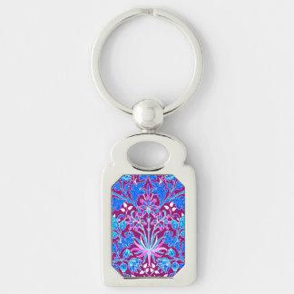 Llavero Impresión, aguamarina y púrpura del jacinto de
