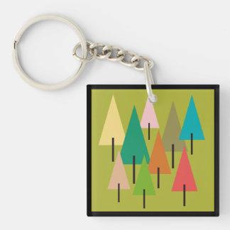 Llavero Impresión del arte del árbol