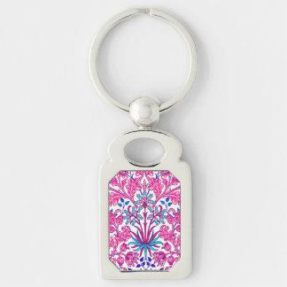 Llavero Impresión del jacinto de William Morris, rosa del