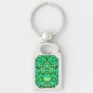 Llavero Impresión del jacinto de William Morris, verde