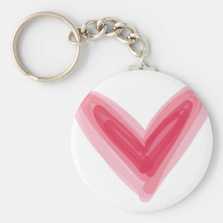 Llavero Impresión rosada bonita del corazón, amor hermoso